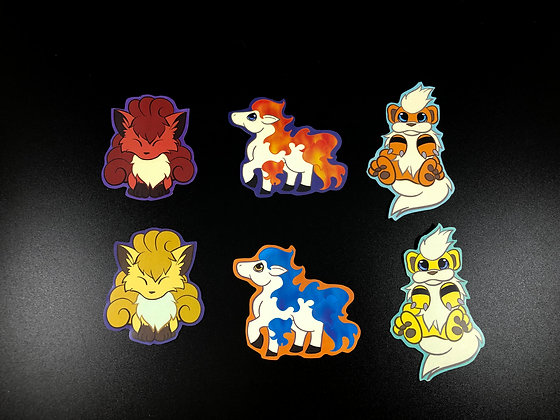 Gen1 Fire Pokemon Sticker Pack