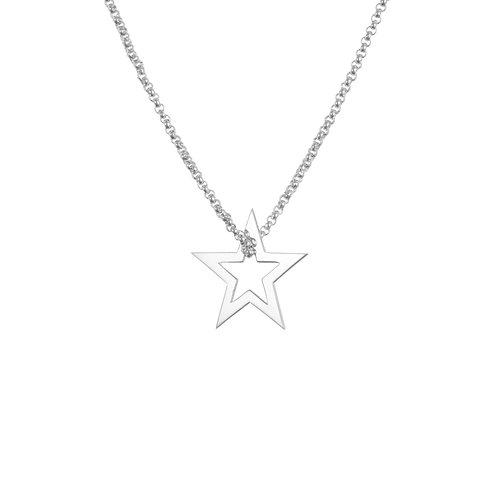 Twinkle Twinkle Little Star Silver Necklace