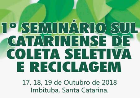 Imbituba se prepara para o 1º Seminário Sul Catarinense de Coleta Seletiva e Reciclagem