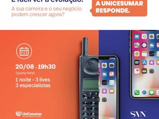 Carreira e negóciossão temas de evento on-linee gratuitopromovido pelaUnicesumar