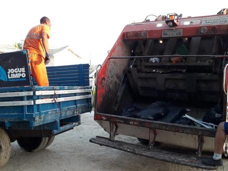 Na temporada de verão, coleta de lixo de Imbituba chega a 700 toneladas em dez dias