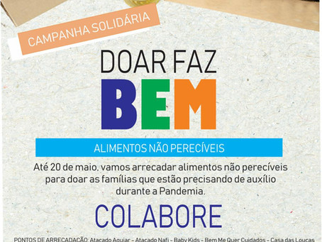 CDL IMBITUBA LANÇA CAMPANHA DOAR FAZ BEM