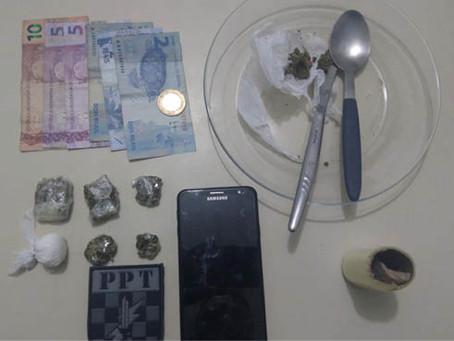 Menor é apreendido com drogas e material do tráfico em Imbituba