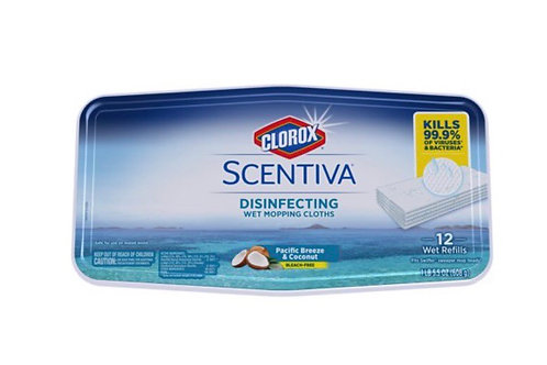 Scentiva Disinfecfing Wet Mopping Cloth - 12