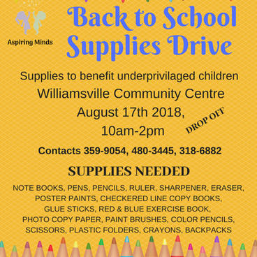 Aspiring Minds back to school drive 2018