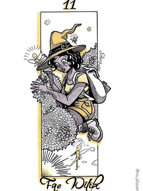 Carte postale - Fae witch