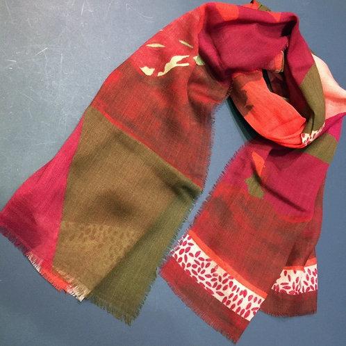 Écharpe étamine en laine