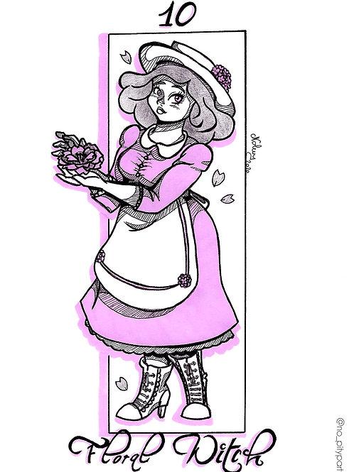 Carte postale - Flora witch