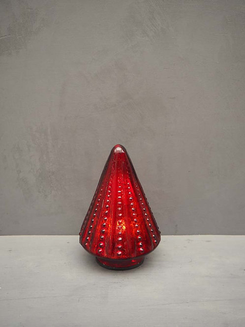 Sapin lumineux rouge