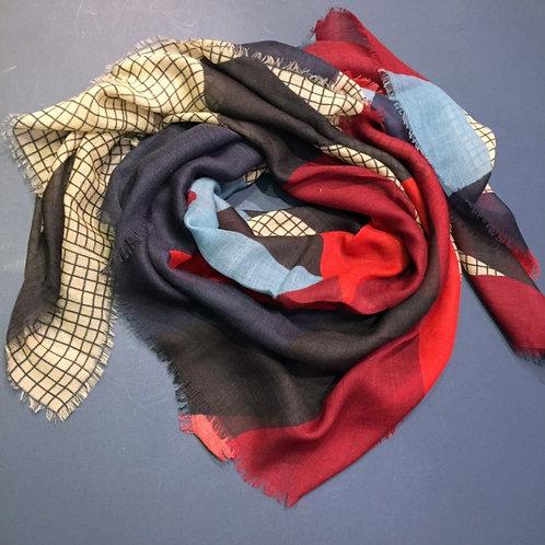 Écharpe étamine de laine