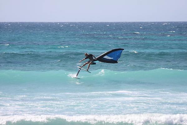 foil wingsurfer winging slide kauai oahu hawaii