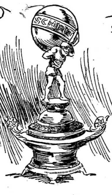Sketch of Schlitz Challenge Cup as printed in the St. Paul Pioneer Press June 17, 1894
