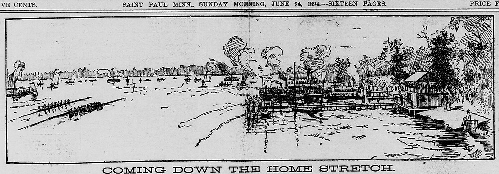 Sketch of race as printed in the St. Paul Daily Globe June 24, 1894