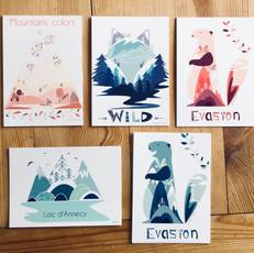 cartes postales souvenirs du bout du lac