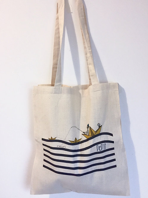 "Tote bag ""Chat marin"""