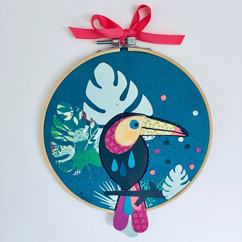 "Tambour décoratif ""Toucan"""