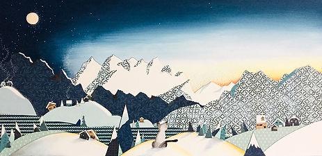 coucher de soleil dans les montagnes_edi