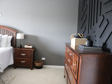 Moody, but Welcoming {Guest Room Feature Wall}