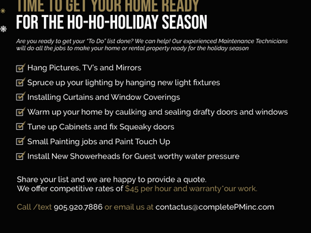 Get Your Home Festive Ready with help from our HO HO HO Holiday Handyman!
