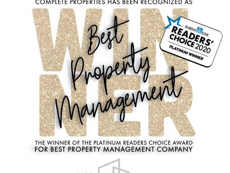 WINNER! BEST Property Management Company!