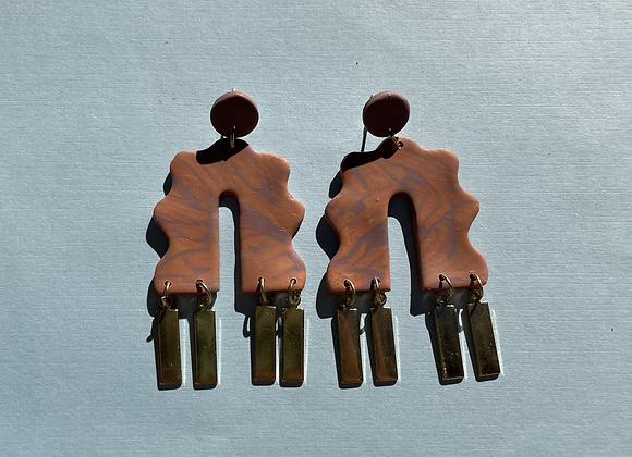 paloma - brass dangles