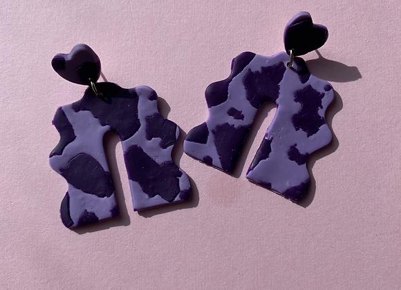paloma - purple cowprint