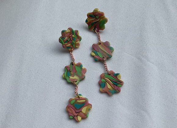 floral chain dangles