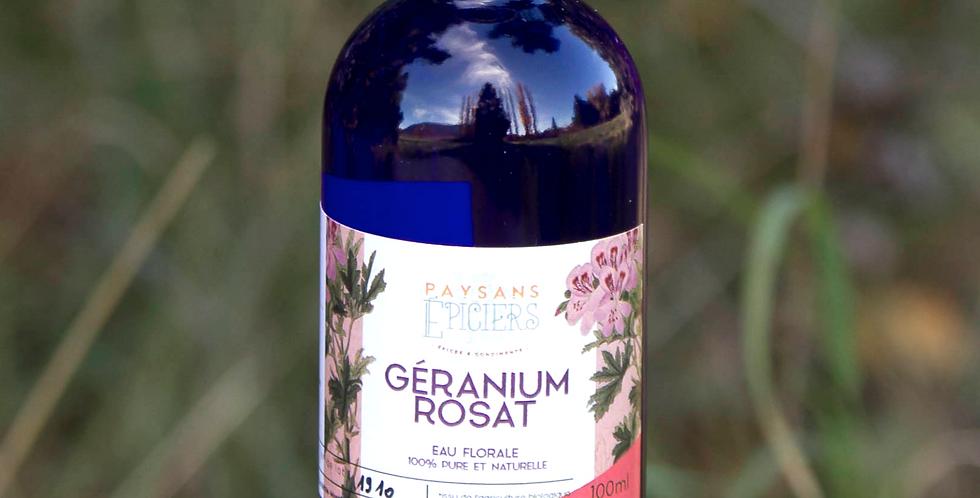 Eau florale de géranium rosat