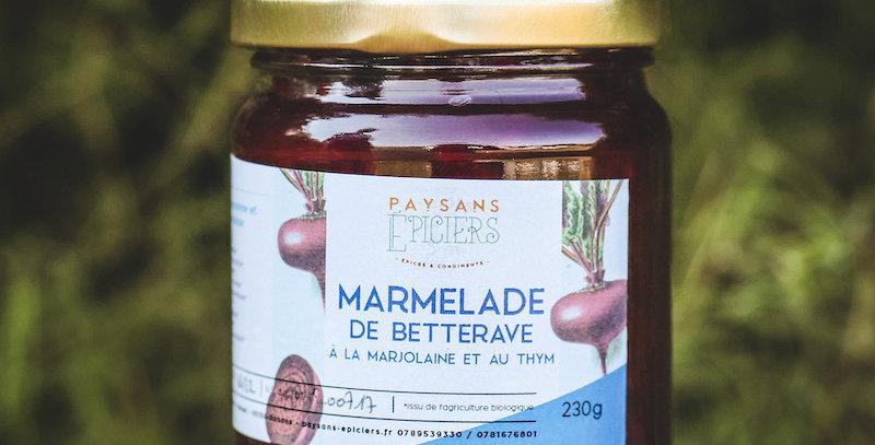 Marmelade de betterave au thym et à la marjolaine