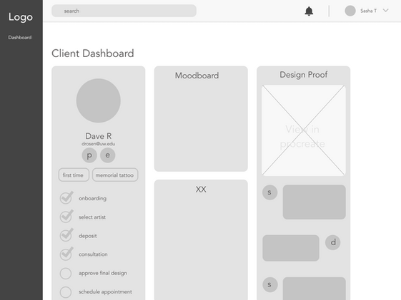 Artist side v1_client profile
