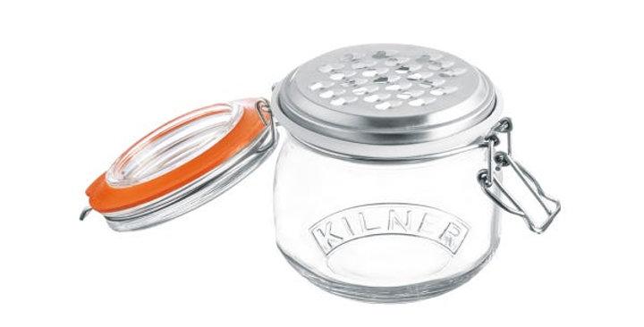 Ralador de queijo Kilner com frasco para armazenamento  Kilner