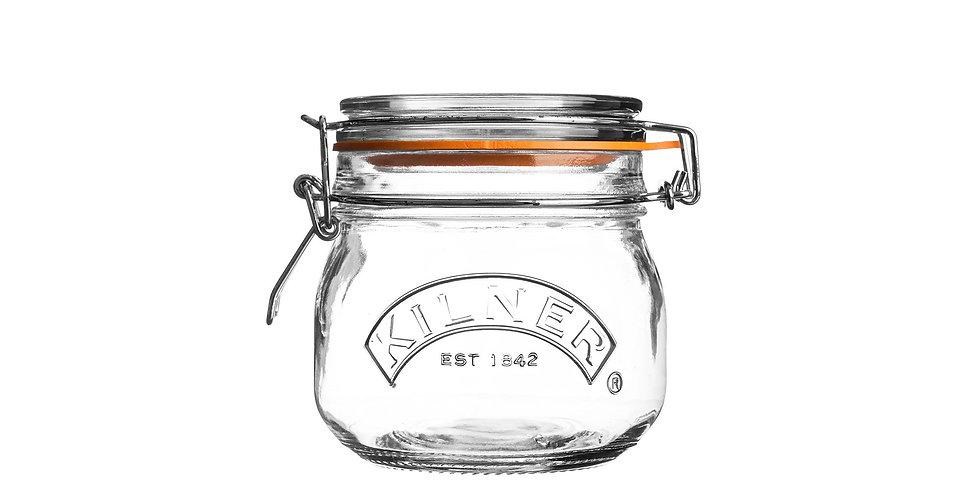 Frasco redondo de 0,5 litro Kilner