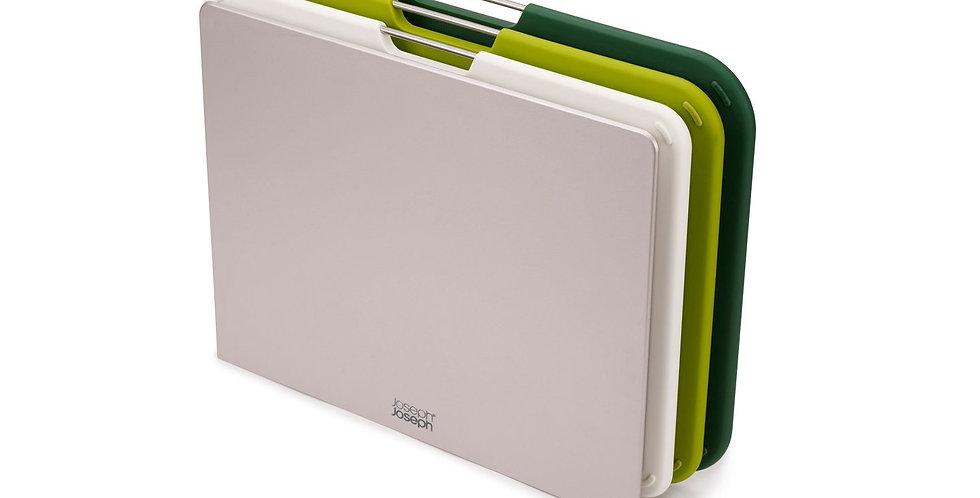 Tábua de cozinha Joseph Joseph retangular verde