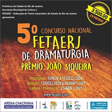 V Premio João Siqueira de Dramaturgia -