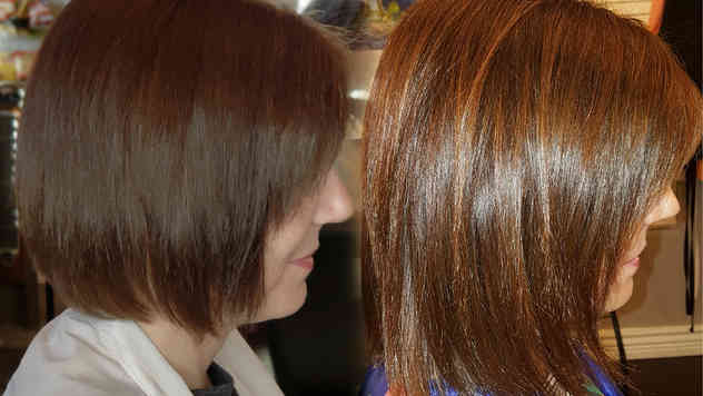 A-Growth after 1st set of hair extension
