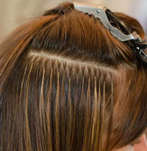 Small discreet hair extensions