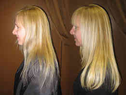 Thickening-fine-hair-with-hair-extension
