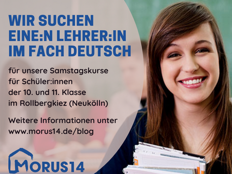 Lehrer:in im Fach Deutsch