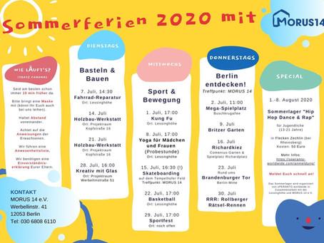 Sommerprogramm für Kinder und Jugendliche