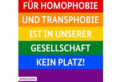 17. Mai: Tag gegen Homophobie und Trans*phobie