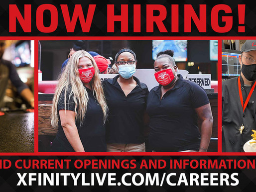 Xfinity Live! Job Fair | 150+ Full and Part-Time Positions Available