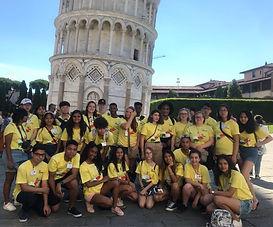 Malike and Nathan at Tower of Piza - cro