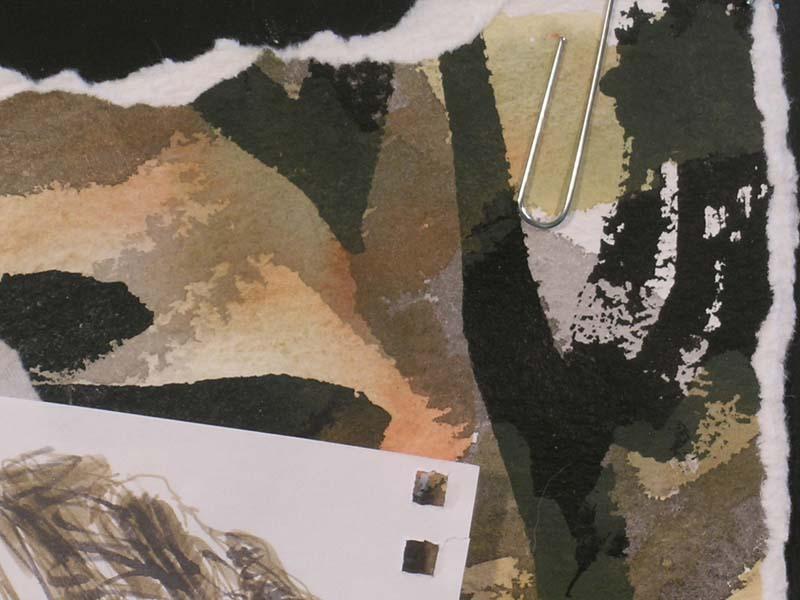 Ink and landscape detail