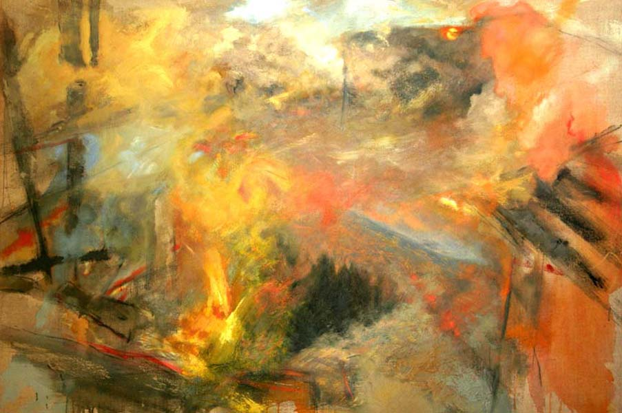 Landscape on fire