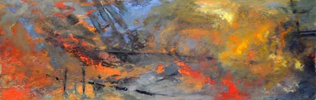 Flames at sea