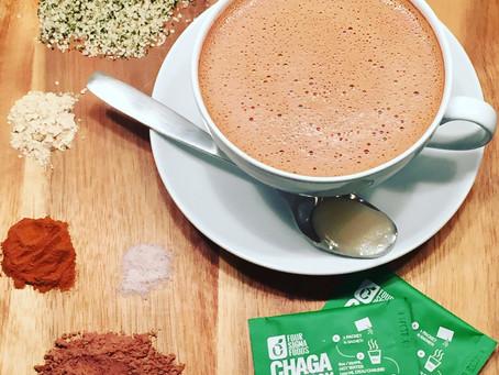 A Cozy, Cacao-Chaga Tea Elixir
