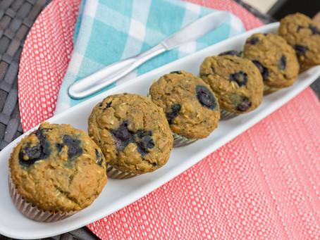 Pumpkin Blueberry Coconut Muffins