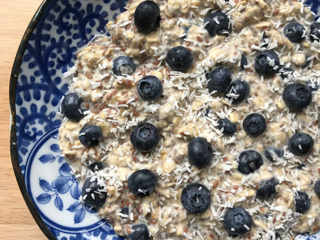 Blueberry, Flax & Chia Overnight Oats