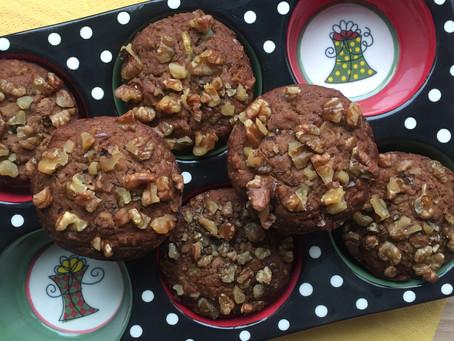 Almond Buckwheat Zucchini Walnut Muffins