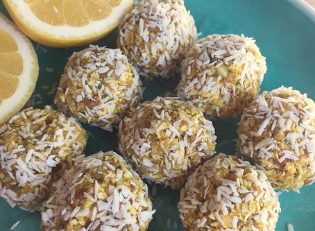 (Protein-Powered) Turmeric Lemon Energy Bites